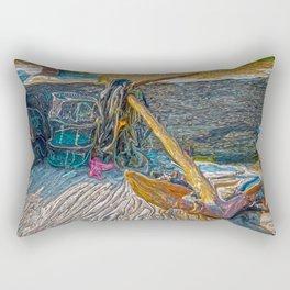 Boat Anchor and Crab Traps Rectangular Pillow