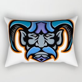 Hades Greek God Head Mascot Rectangular Pillow
