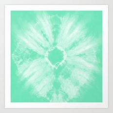 Tie Dye Mint Art Print