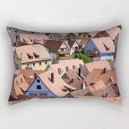 Roofs urban scene Rectangular Pillow