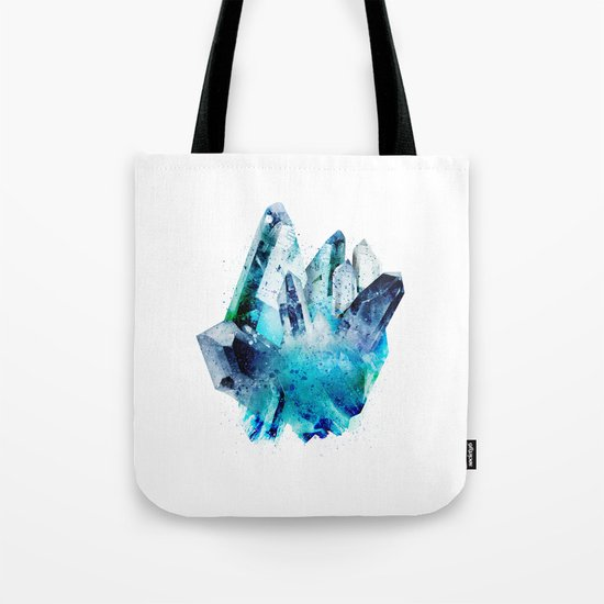 Watercolor Gemstone Tote Bag