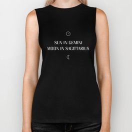 Gemini/Sagittarius Sun and Moon Signs Biker Tank