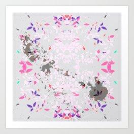 SYCAMORE STAMP SCRATCH PASTEL Art Print