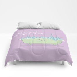 Rub A Dub Dub #kawaii #tub Comforters