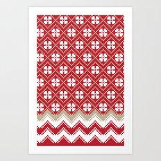 Glove in Red Art Print