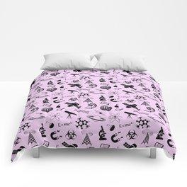 Symbols of Science // Light Pink Comforters