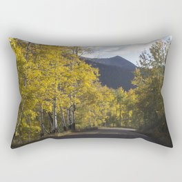 Mountain Road Less Traveled Rectangular Pillow