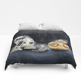 LOVE DROID & THE CAT Comforters