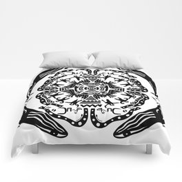 Soul Of The Dream Desert - A Conversation Amongst Animals (Black and White Edition) Comforters