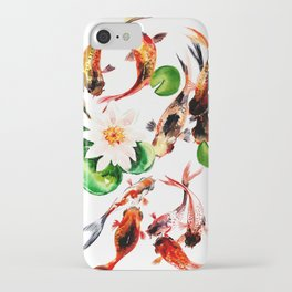 Koi Fish in Pond, Feng Shui iPhone Case