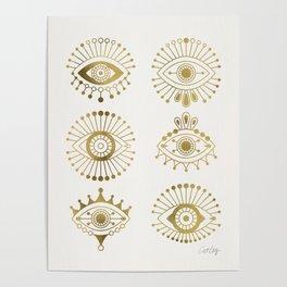 Evil Eyes – Gold Palette Poster