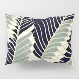 Oriental Palm Riddle Vintage Pillow Sham