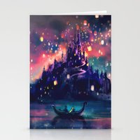 always Stationery Cards featuring The Lights by Alice X. Zhang