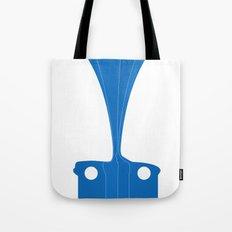 Silhouette Racers - Mazda MX5 in Blue Tote Bag