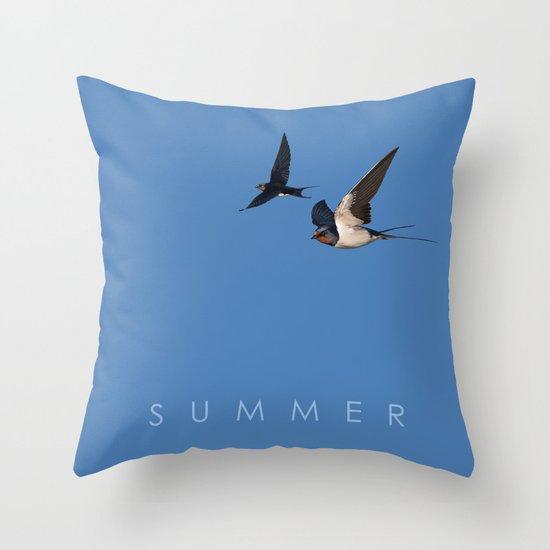 Blue Series #002 ~ Summer Throw Pillow