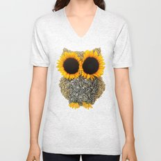 Hoot! Day Owl! Unisex V-Neck