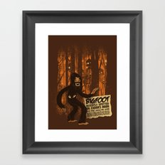 Bigfoot spotted on… Framed Art Print