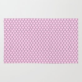 Chicken Wire Blush Rug