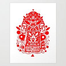 kozmik machine (red) Art Print