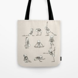 Skeleton Yoga Tote Bag