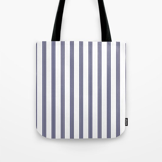 Blue- White- Stripe - Stripes - Marine - Maritime - Navy - Sea - Beach - Summer - Sailor Tote Bag