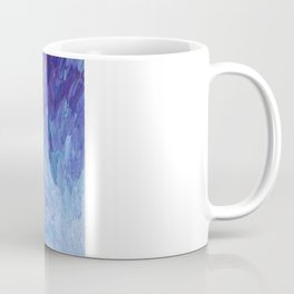 SCALES OF A DIFFERENT COLOR - Abstract Acrylic Painting Eggplant Sea Scales Ocean Waves Colorful Coffee Mug