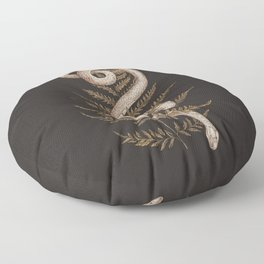 The Snake and Fern Floor Pillow