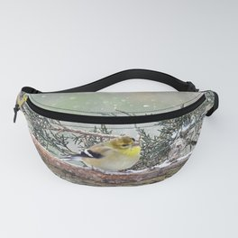 Two Finches in a Snowstorm Fanny Pack