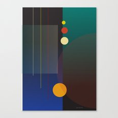 Circles, Lines, Squares - Abstract Design Canvas Print