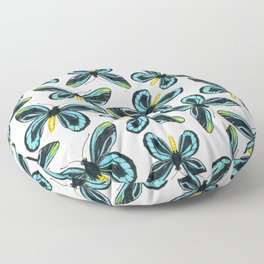 Queen Alexandra' s birdwing butterfly pattern design Floor Pillow