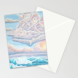 Les anges gardiens de l'amour Stationery Cards