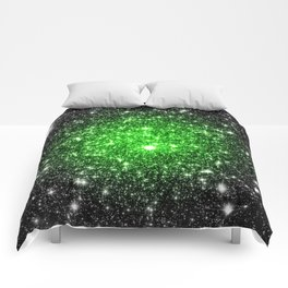 galAxy. Stars Lime Green Comforters
