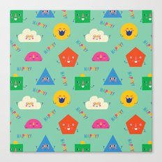 Happy! Pattern Canvas Print