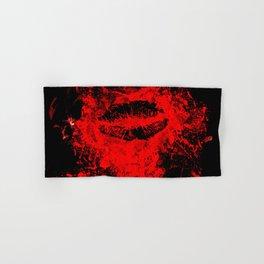 Gothic Bloody Kiss Hand & Bath Towel
