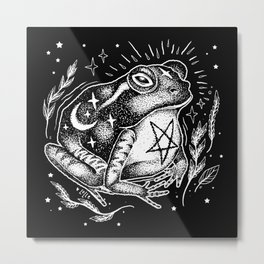 BLACK TOAD Metal Print
