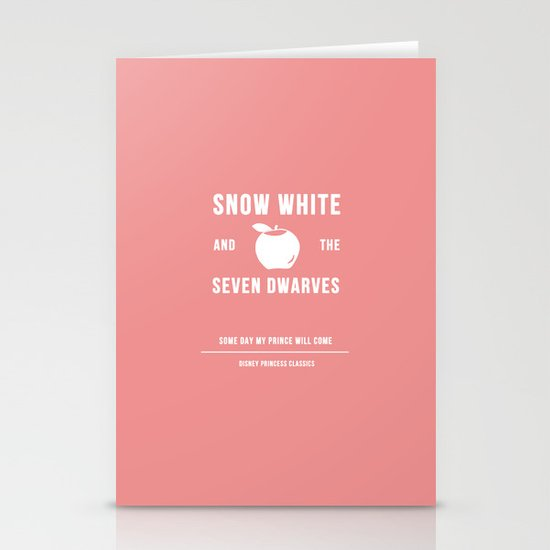 Disney Princesses: Snow White Minimalist Stationery Cards