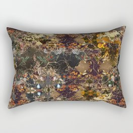 Abstract Oil Paint Collage #2 Rectangular Pillow