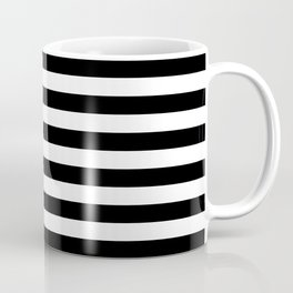 Black White Stripe Minimalist Coffee Mug