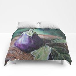 "Pastel Drawing ""Elegant Eggplant"" Comforters"