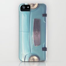 Mint - Blue Retro Fiat Car  Slim Case iPhone (5, 5s)
