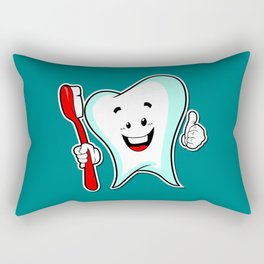Dental Care happy Tooth with Toothbush Rectangular Pillow