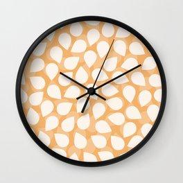 Sakura Petal Snow Light Orange Spring Pattern Wall Clock