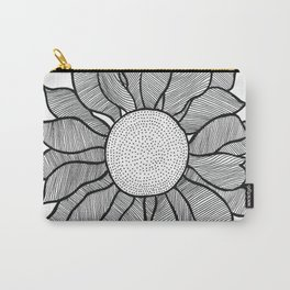 Isolated Inked Flower Carry-All Pouch