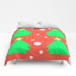 Christmas tree on red Comforters