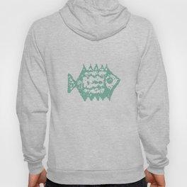 Mint fish Hoody
