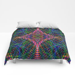 Diffract multi-color Comforters