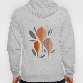 Minimal Autumnal Leaf Trio #abstractart Hoody