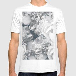Elegant Peony Bouquet Gray Monochrome #decor #society6 #buyart T-shirt