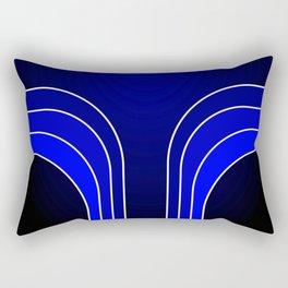 Blue Bars Rectangular Pillow