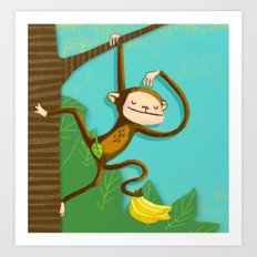 Monkey business Art Print